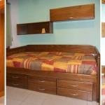 Dormitorio juvenil modular pino macizo rustico