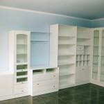 Librería modular lacada blanco