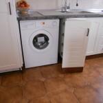Módulo lavadora con puertas persiana haya maciza
