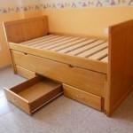 cama doble con gavetas pino macizo