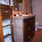 Mueble rústico para baño