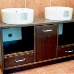 Mueble doble lavabo pino macizo