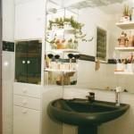 Columna para baño MDF lacado blanco